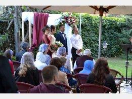 Svatební obřad na naší zahrádce