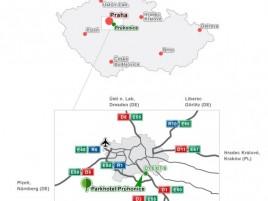 Mapa příjezdu